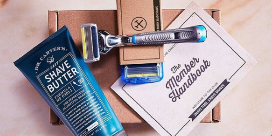 Sample of Dollar Shave Club box
