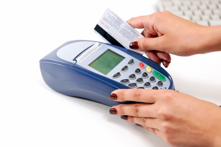 """Credit card machine to illustrate the idea of """"your business shouldn't be cash only"""""""