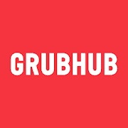 grubhub logo. concpet: food delivery apps