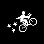 postmates logo. concept: food delivery apps