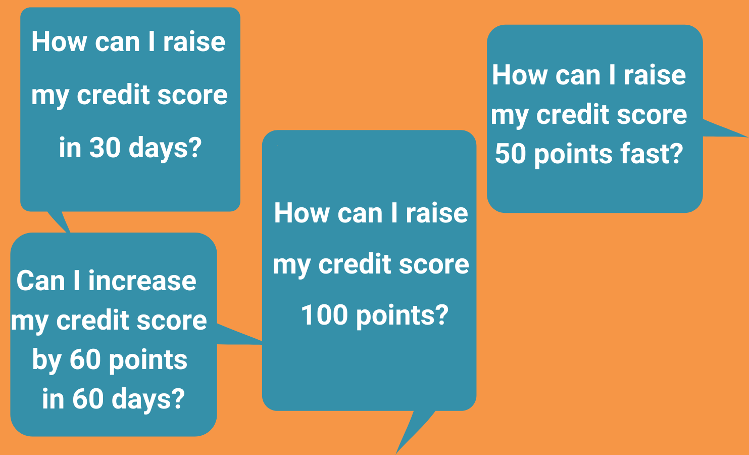 How can I raise my credit score in 30 days? How can I raise my credit score 100 points? How can I raise my credit score 50 points fast?