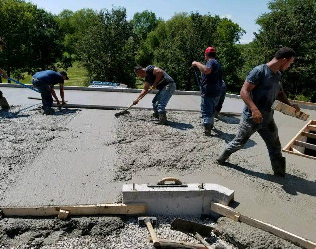 The Komark Concrete team in Kansas City, MO
