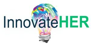 InnovateHER Logo. concept: small business loans for women