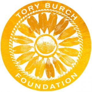 Tory burch Foundation logo. concept: small business loans for women