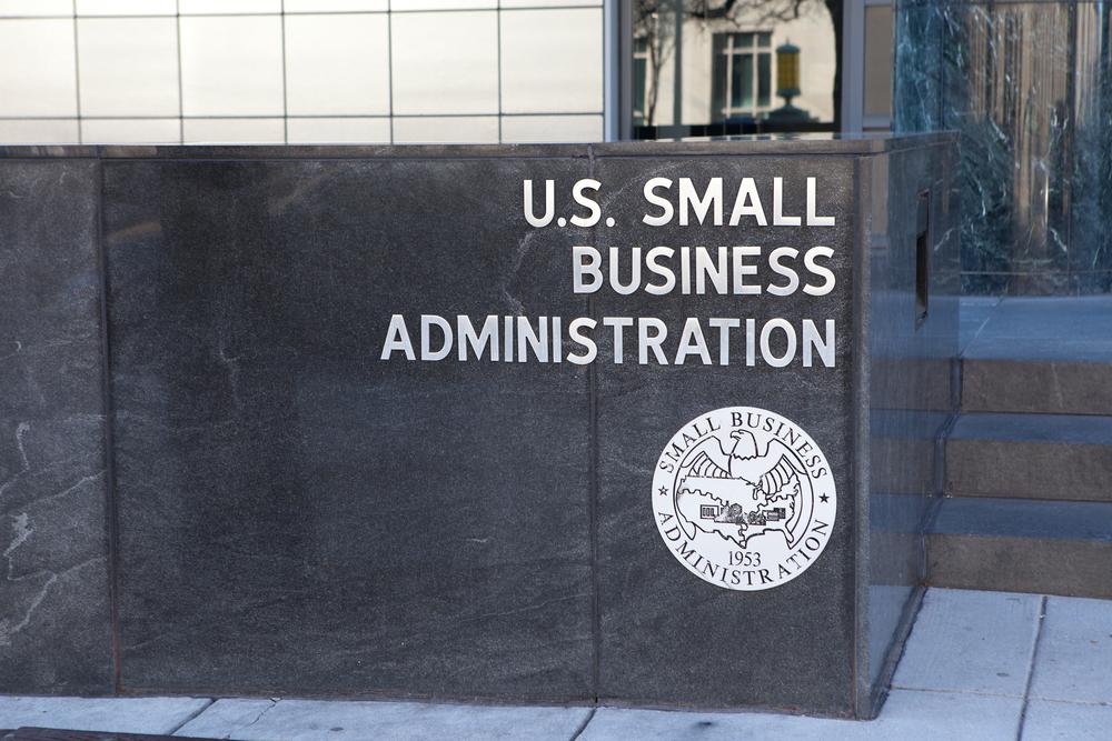 """Edificio de la SBA para ilustrar la idea de """"préstamos del gobierno"""""""