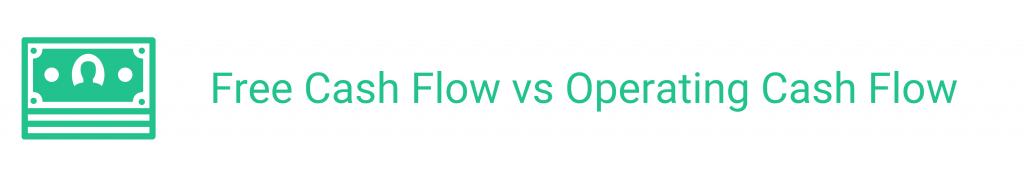 amino financial, free cash flow vs operating cash flow