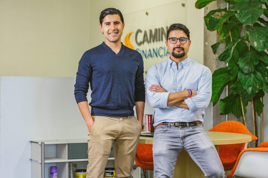 Sean and Kenny Salas at Camino Financial Office