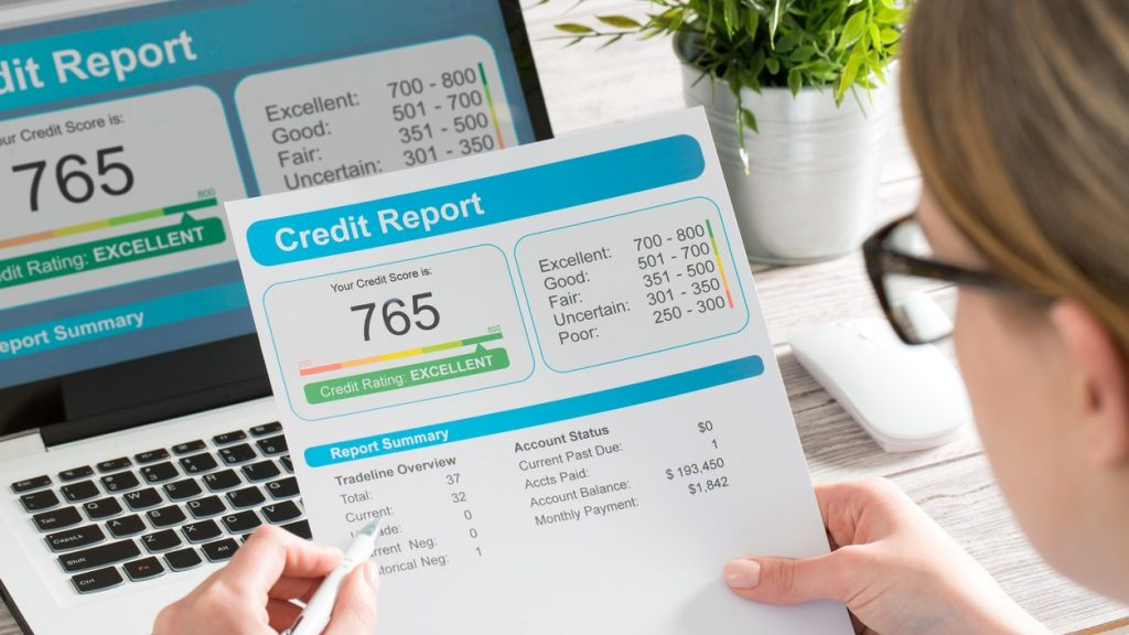 report credit score banking borrowing application risk form document loan business market concept - stock image. concept: build business credit quickly