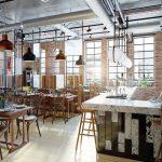 Interior de restaurante moderno. Concepto: cómo decorar tu restaurante.