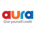 aura logo. concept: personal loans