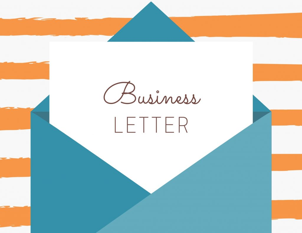 business letter illustration