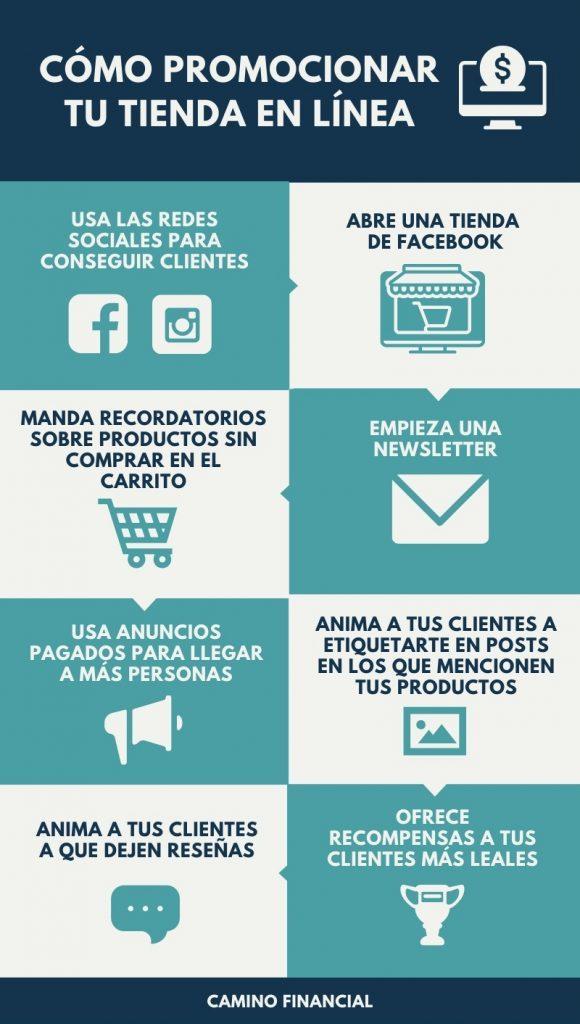 marketing tienda en línea, infografía, Camino financial