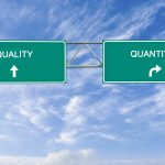 Road signs to quantity and quality, the dilemma that most businesses face. Concept: Business Growth vs Product Quality, What Should You Prioritize?