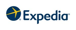 expedia logo. concept: online travel agents