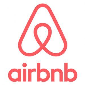 airbnb logo. concept: online travel agent