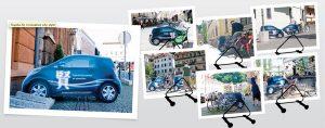 Creative ad, toyota iq car, guerrilla marketing. Source: creativeguerrillamarketing.com. Concept: guerrilla marketing