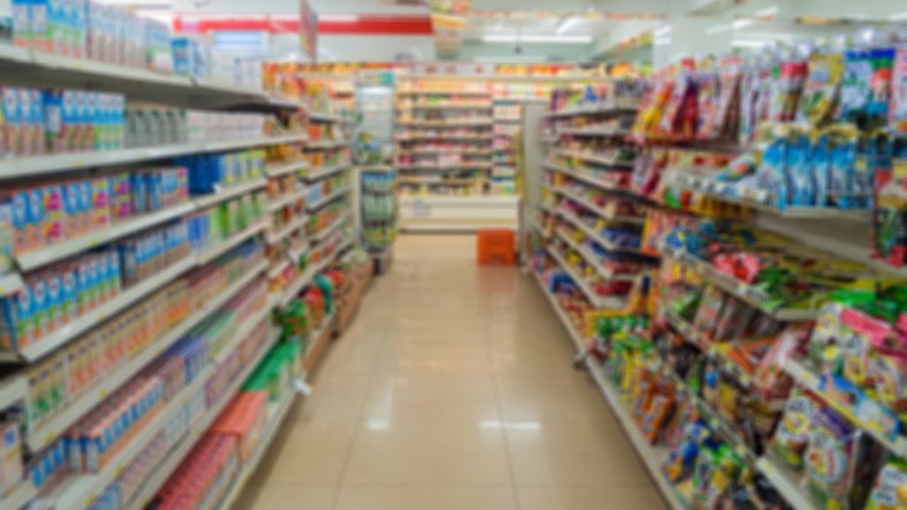 The Shelves Convenience Store (7-11) at Thamai at Chanthaburi, Thailand. concept: inventory financing