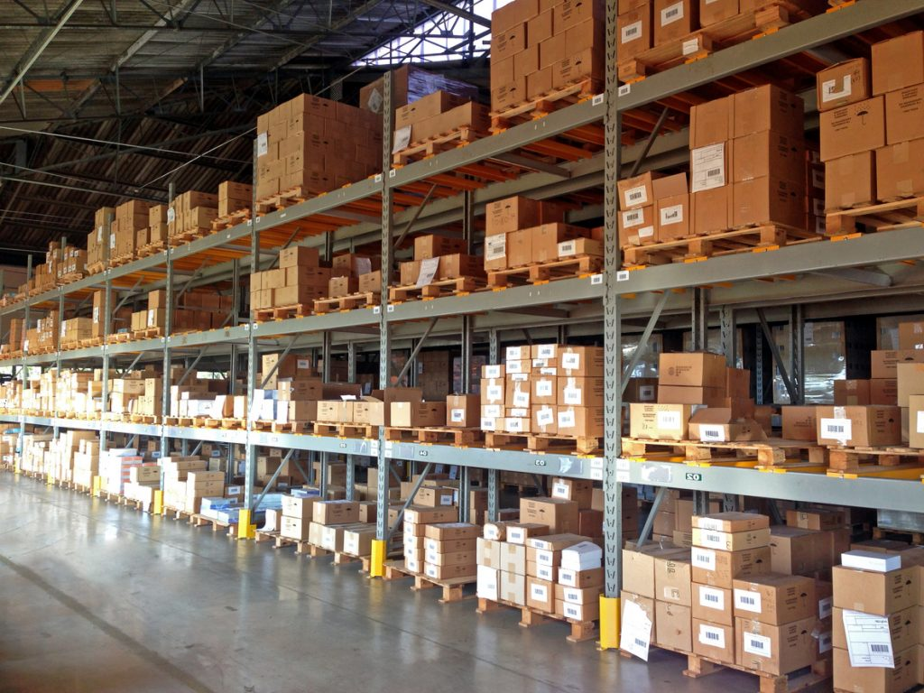 Warehouse. Concept: inventory investment