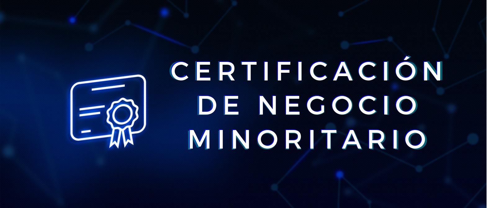 Logro, certificación, diploma, documento. Concept: certificación de negocio minoritario