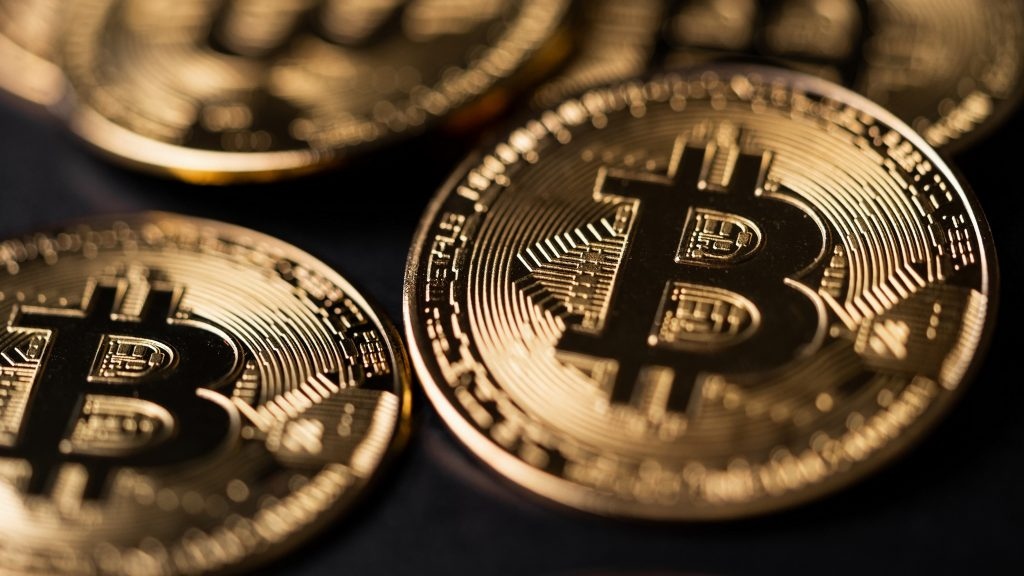 Bitcoin coin, close up. Concept: cryptocurrency. Photo by Viktor Hanacek - picjumbo.com