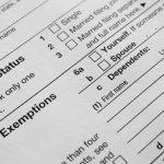 Forma de impuestos. Concept: declarar impuestos