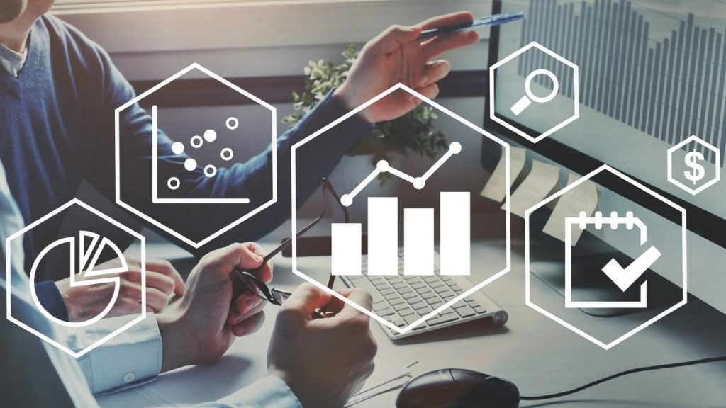 business analytics intelligence concept, financial charts to analyze profit and finance performance of company. Concept: how to track business expenses