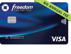 Chase Freedom Unlimited. concept: best cashback credit cards