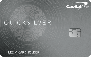 Capital One Quicksilver Cash Rewards Credit Card. concept: best cashback credit cards