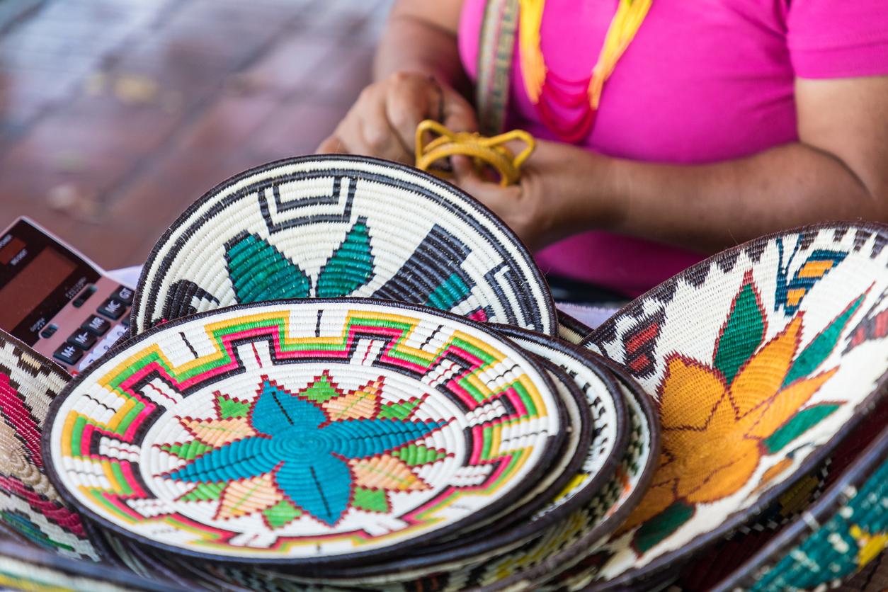 Hand-made souvenirs from Panama city. Concept: How to import products from Latin America