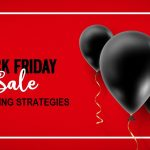Vector ad banner with editable copy space for holiday discounts and sales. Concept: marketing tactics black friday