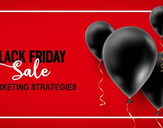 Vector, venta y descuentos de black friday. Concept: estrategias de marketing