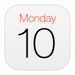 apple calendar logo. concept: calendar business apps