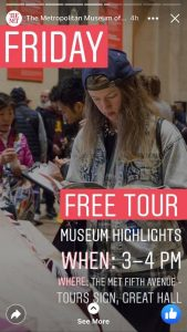 Facebook stories: metropolitan museum of art 2