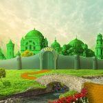 Ciudad esmeralda, mago de oz, camino amarillo. concept: empresario exitoso