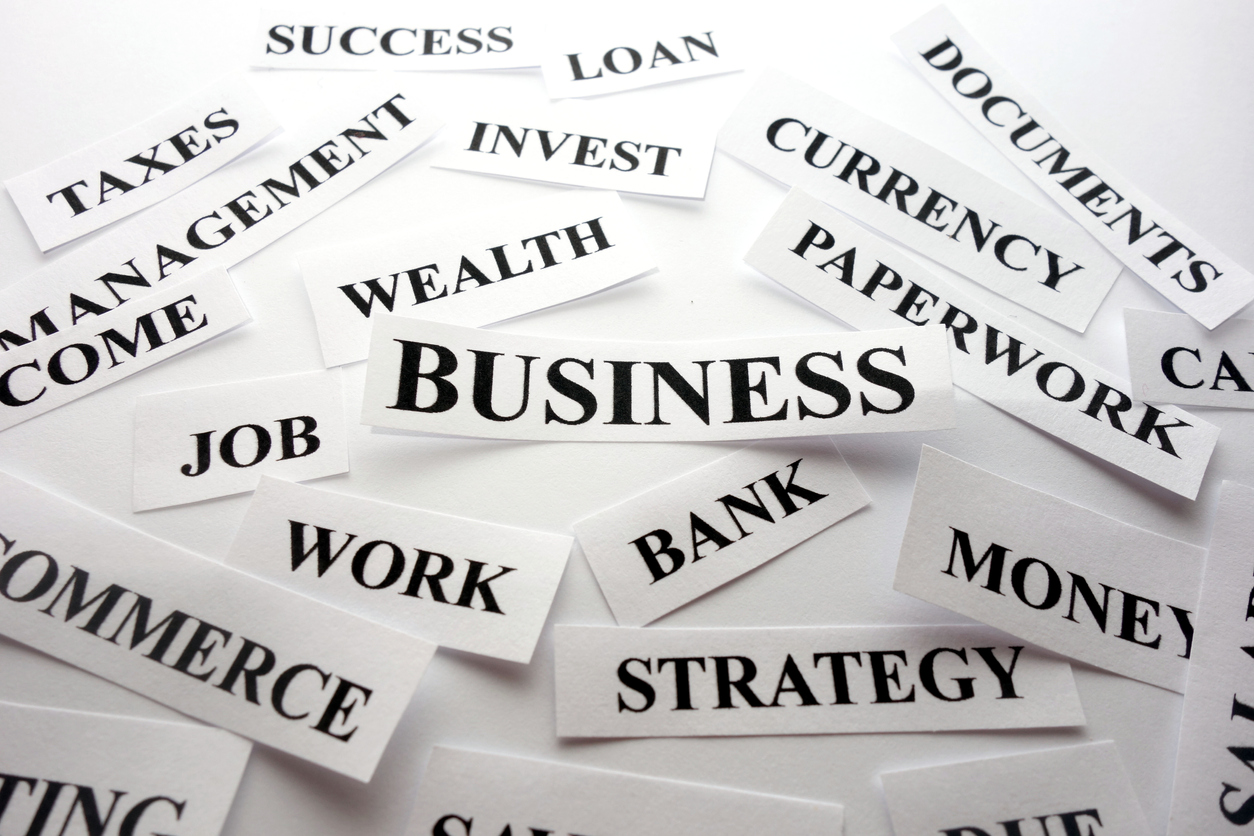 Successful business words. concept: accounting terms
