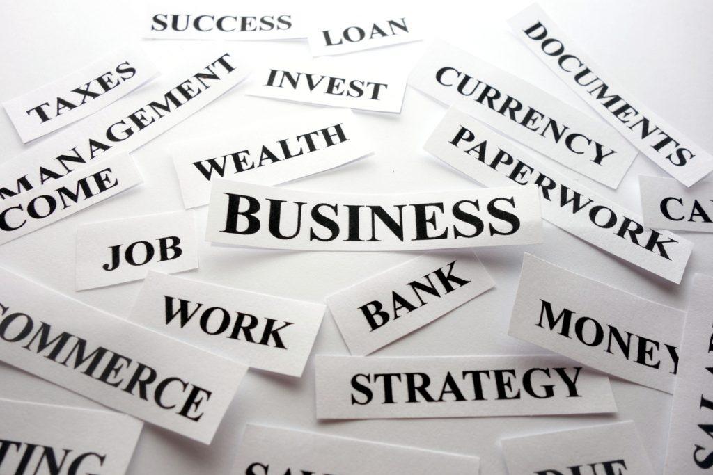 Palabras de negocios. concept: terminos contables, contabilidad