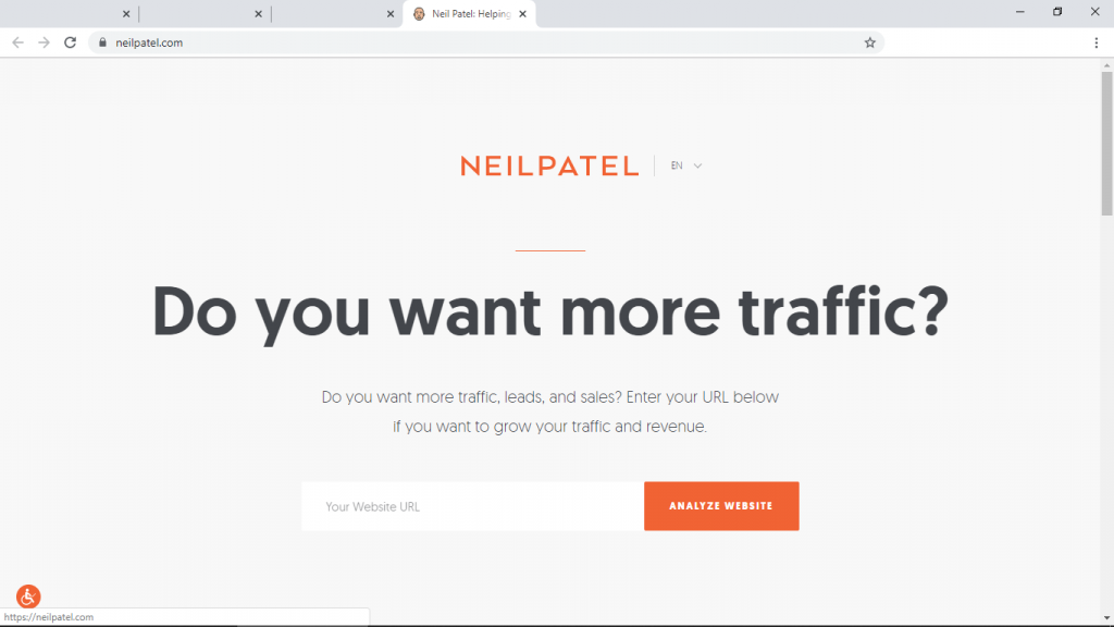 small business website neilpatel.com