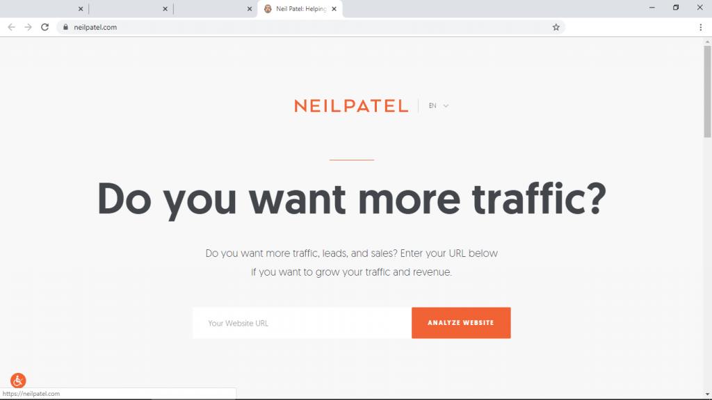 small business website neilpatel.com