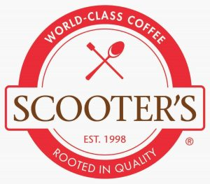 Scooter's Coffee logo. concept: restaurant franchises