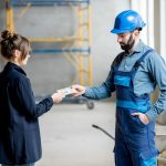 Contractor receiving payment from client. Concept: accounts receivable turnover ratio