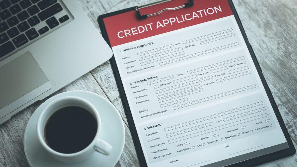 CREDIT APPLICATION FORM. CONCEPT: Financial Companies