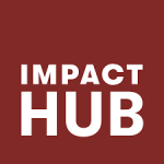 impact hub logo. concept: coworking spaces