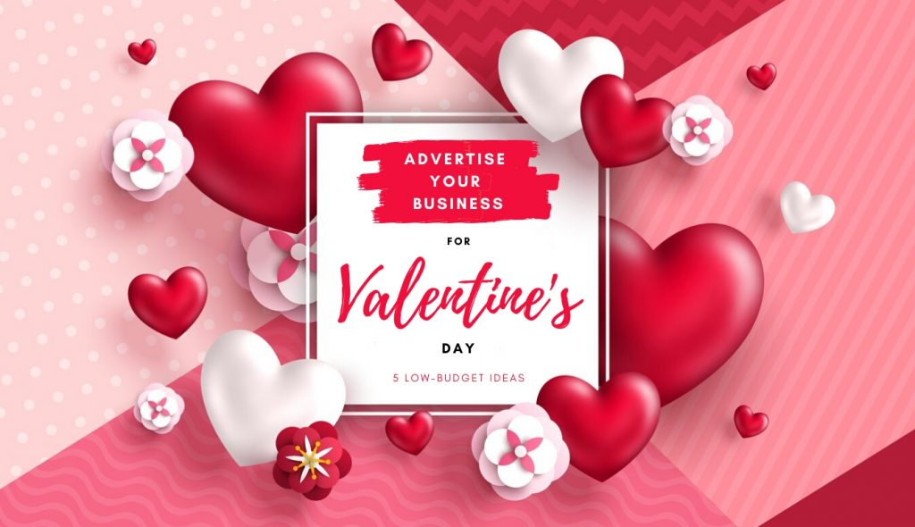 Valentine's day concept background. Vector illustration. 3d red hearts and paper cut flowers with white square frame. Cute love sale banner or greeting card. concept: valentine's day/ advertising ideas