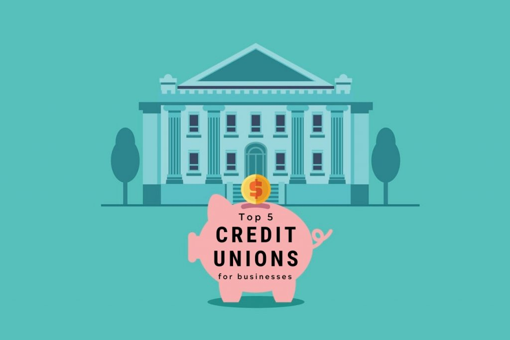 Piggy bank with inscriptions: economy, deposit, investment, pension, budget. Bank building in city street . Saving and investing money concept. Future financial planning. concept: best credit unions