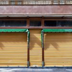 old store front - nice facade. concept: quarantine
