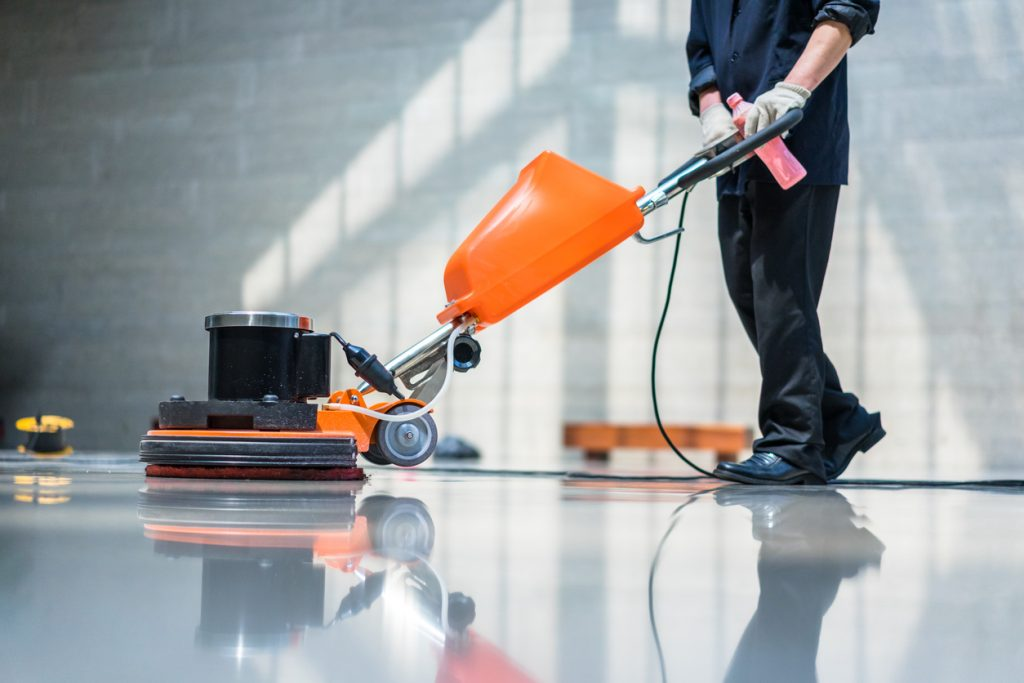 floor care machine. concept: cleaning business