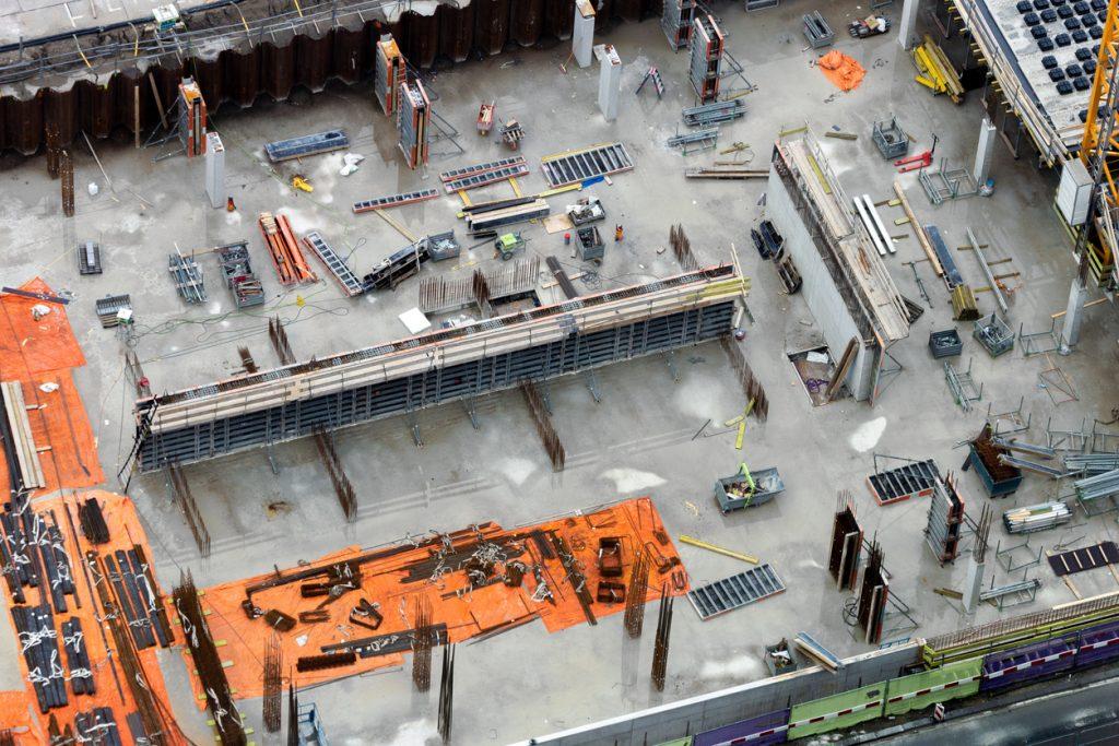 Sitio de construcción desde arriba.