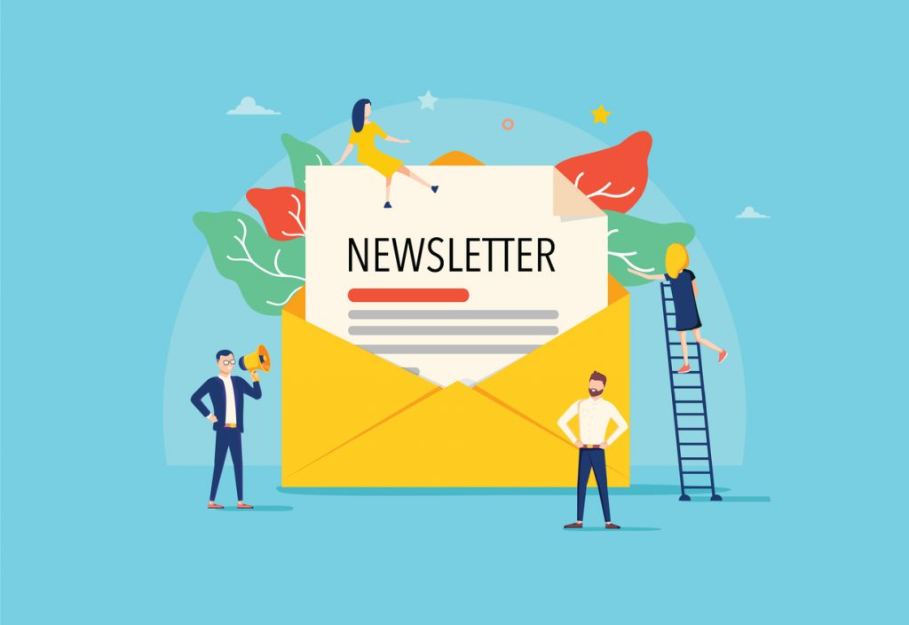Vector, susbcriptores de email, email marketing, newsletter