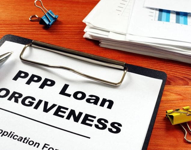 Paycheck Protection Program PPP Loan forgiveness application form. concept: PPP Loan Forgiveness Requirements