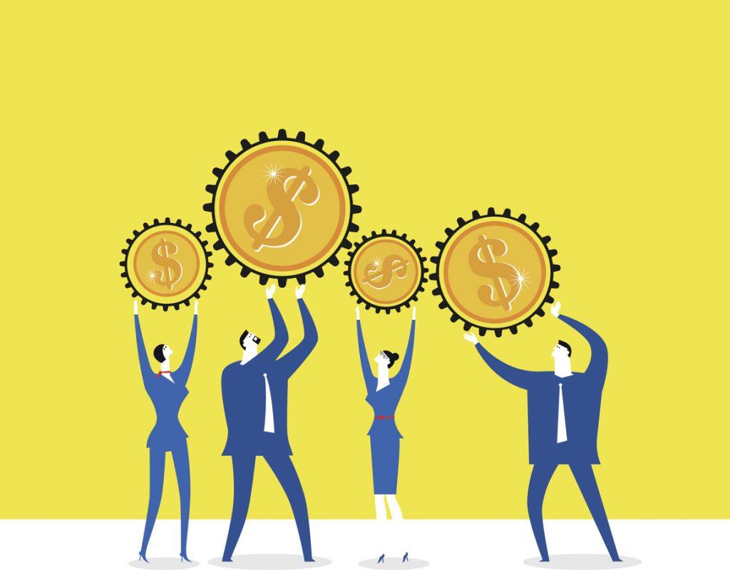 Trabajo en equipo, dinero. concept: Cómo calcular las ganancias retenidas